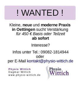 Physio Wittich - Physiotherapie in 86732 Oettingen von Dagmar ...